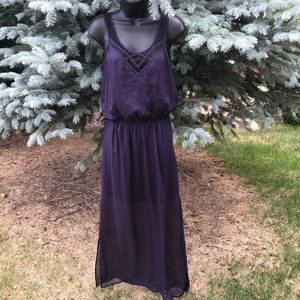 High low maxi dress by express Sz small